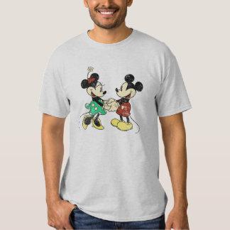 Vintage de Mickey y de Minnie el | Polera