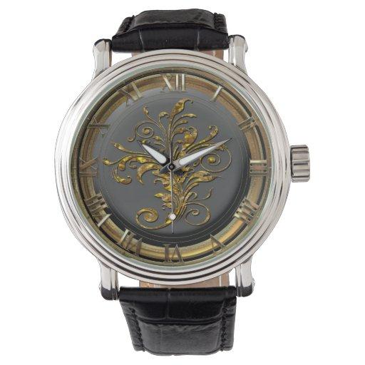 Vintage de Mishka floral Relojes De Mano