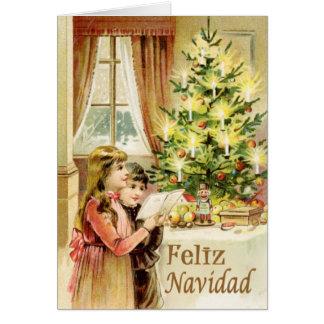 Vintage de Navidad 1902 Tarjeta De Felicitación