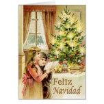 Vintage de Navidad 1902 Tarjeton