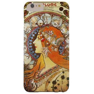 Vintage de Nouveau del arte del zodiaco del Funda De iPhone 6 Plus Barely There
