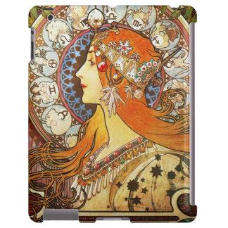 Vintage de Nouveau del arte del zodiaco del Funda Para iPad