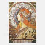 Vintage de Nouveau del arte del zodiaco del penach Toallas