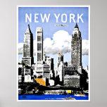 Vintage de Nueva York América del viaje Póster