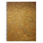 Vintage, de oro elegante, rústico, victorian, terc cuaderno