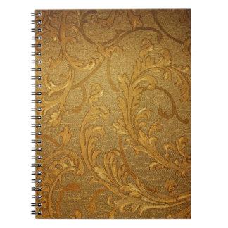 Vintage de oro elegante rústico victorian terc cuaderno