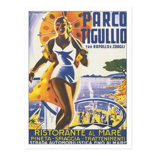 Vintage de Parco Tigullio Postal