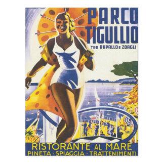 Vintage de Parco Tigullio Tarjetas Postales