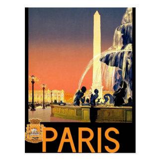 Vintage de París Francia Postal