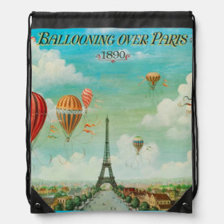 Vintage de PixDezines/globos/Eiffel/París Mochilas