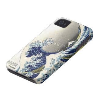 Vintage de PixDezines, gran onda, 葛飾北斎の神奈川沖浪 de iPhone 4 Case-Mate Carcasas