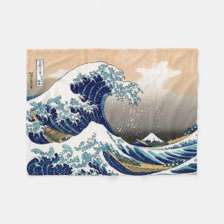 Vintage de PixDezines, gran onda, 葛飾北斎の神奈川沖浪 de Manta Polar