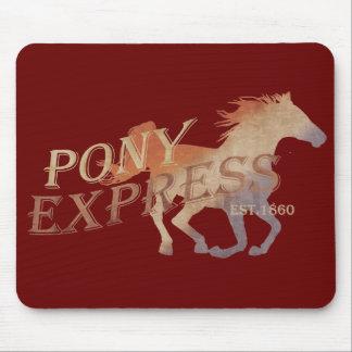 Vintage de Pony Express Mouse Pads