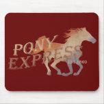 Vintage de Pony Express Tapetes De Ratones