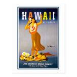 Vintage de Postal-Hawaii