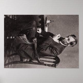VINTAGE de presidente Abraham Lincoln STEREOVIEW Póster