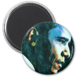 Vintage de presidente Barack Obama Imán Redondo 5 Cm