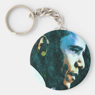 Vintage de presidente Barack Obama Llavero