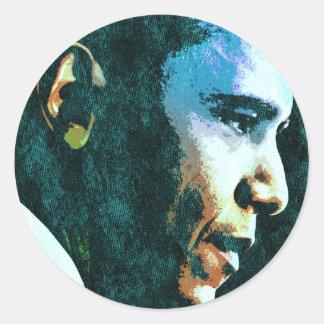 Vintage de presidente Barack Obama Pegatina Redonda