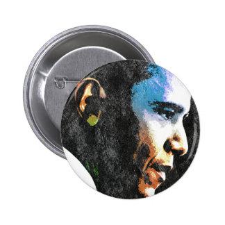 Vintage de presidente Barack Obama Pin Redondo 5 Cm