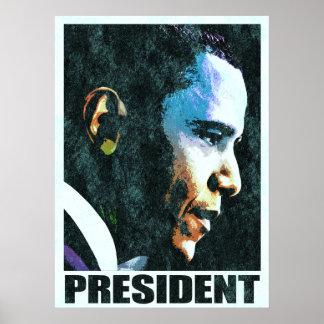 Vintage de presidente Barack Obama Póster