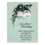 Vintage de saludo 1915 del Año Nuevo Postales
