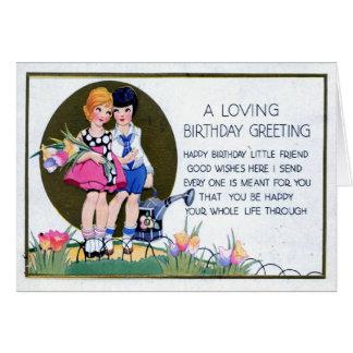 Vintage de saludo 1915 del cumpleaños lesbiano tarjeta de felicitación