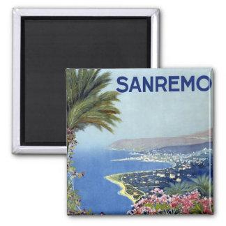 Vintage de Sanremo Italia Imán Cuadrado