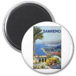 Vintage de Sanremo Italia Imán Redondo 5 Cm