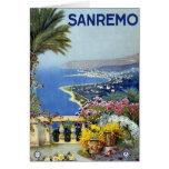 Vintage de Sanremo Italia Tarjeta De Felicitación