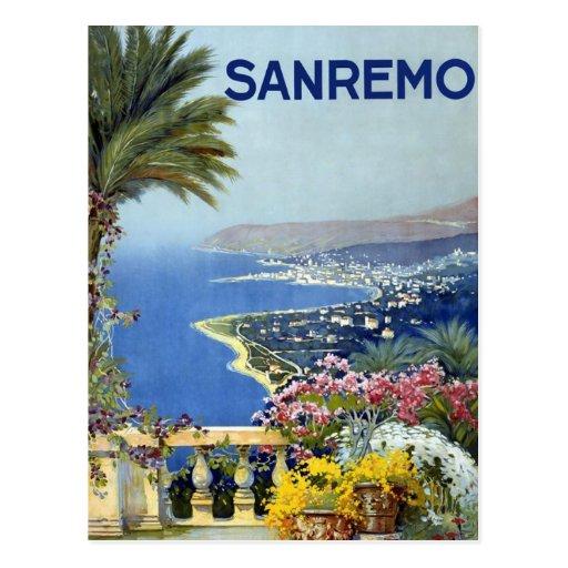 Vintage de Sanremo Italia Tarjeta Postal