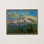 Vintage de Shasta del soporte Rompecabeza Con Fotos