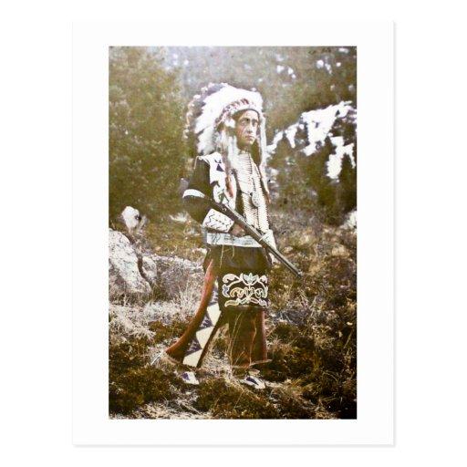 Vintage de Siux del Ute del nativo americano Postal