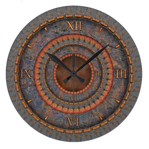 Vintage de Steampunk Reloj Redondo Grande