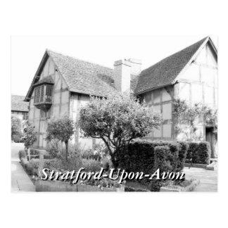 Vintage de Stratford del lugar de nacimiento de Postal