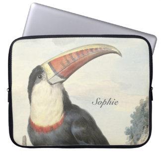 Vintage de Toucan del americano de Whitethroated Fundas Computadoras