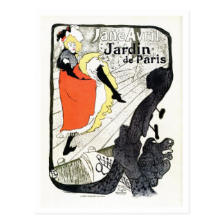 Vintage De Toulouse Lautrec French can-can poster Postcard