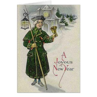 """Vintage """"de un Año Nuevo feliz"""" Tarjeta De Felicitación"""