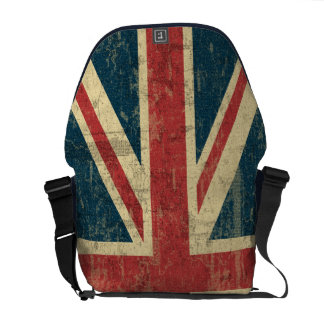 Vintage de Union Jack apenado Bolsa De Mensajería