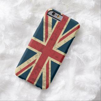 Vintage de Union Jack apenado Funda De iPhone 6 Barely There