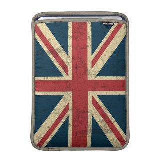 Vintage de Union Jack apenado Funda MacBook