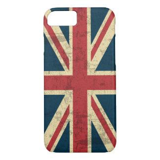 Vintage de Union Jack apenado Funda iPhone 7