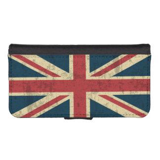 Vintage de Union Jack apenado Fundas Billetera Para Teléfono