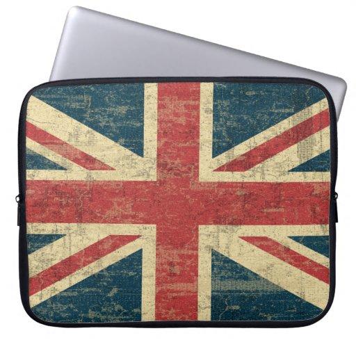 Vintage de Union Jack apenado Fundas Portátiles