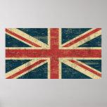 Vintage de Union Jack apenado Impresiones