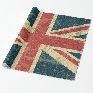 Vintage de Union Jack apenado Papel De Regalo