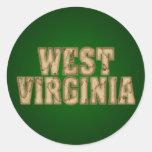 Vintage de Virginia Occidental Etiqueta Redonda