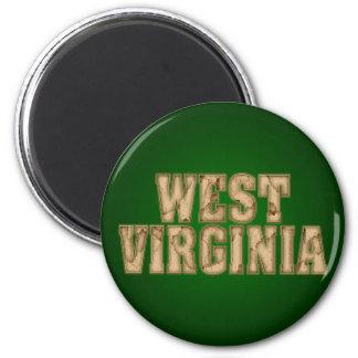 Vintage de Virginia Occidental Imán Redondo 5 Cm