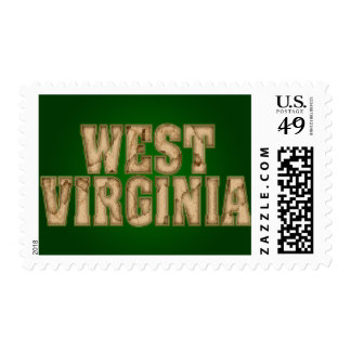 Vintage de Virginia Occidental Sello Postal