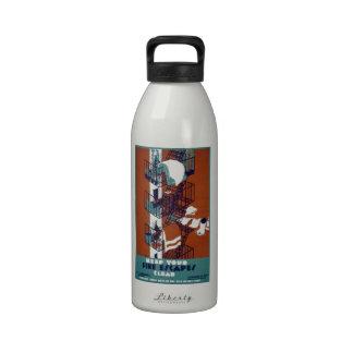 Vintage de WPA Botella De Agua Reutilizable